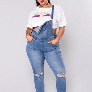 Fashion Nova Browyn Overalls Size XL
